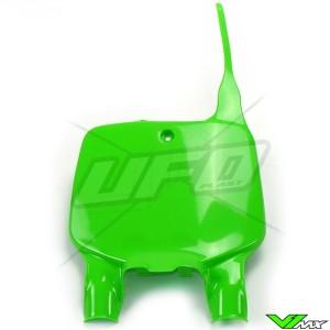 UFO Front Number Plate Green - Kawasaki KX125 KX250 KX500