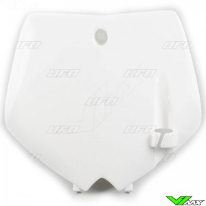 UFO Front Number Plate White - KTM 65SX