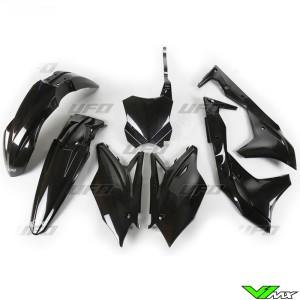 UFO Plastic Kit Black - Kawasaki KXF250