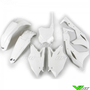 UFO Plastic Kit White - Kawasaki KXF250