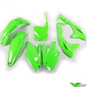 UFO Plastic Kit Fluo Green - Kawasaki KXF250