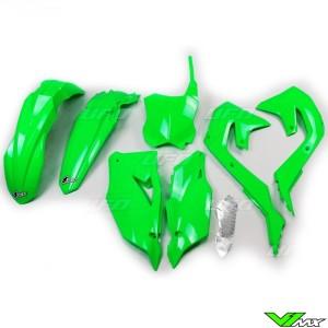 UFO Plastic Kit Fluo Green - Kawasaki KXF450