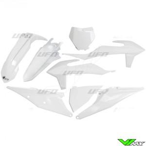 UFO Plastic Kit White - KTM 125SX 150SX 250SX 250SX-F 350SX-F 450SX-F