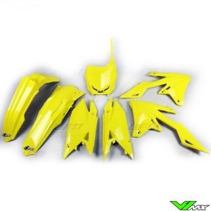 UFO Plastic Kit Yellow - Suzuki RMZ250 RMZ450