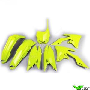 UFO Plastic Kit Fluo Yellow - Suzuki RMZ250 RMZ450