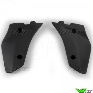 UFO Lower Radiator Shrouds Black - Husqvarna CR125 WR125 WR250 WR300