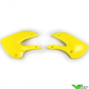 UFO Radiator Shrouds Yellow - Kawasaki KX65 KLX110