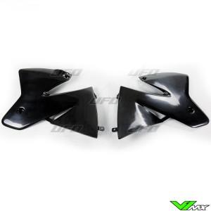UFO Radiator Shrouds Black - KTM 125SX 200SX 250SX 380SX 520SX 125EXC 200EXC 250EXC 300EXC 380EXC 520EXC