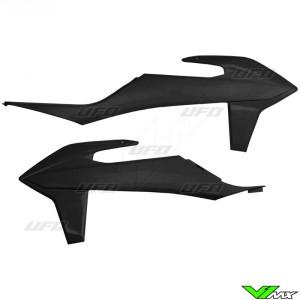 UFO Radiator Shrouds Black - KTM 125SX 150SX 250SX 250SX-F 350SX-F 450SX-F