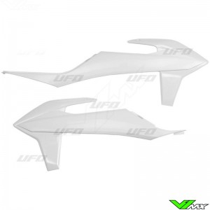 UFO Radiateurkappen Wit - KTM 125SX 150SX 250SX 250SX-F 350SX-F 450SX-F