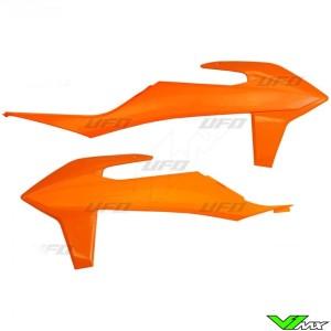 UFO Radiator Shrouds Orange - KTM 125SX 150SX 250SX 250SX-F 350SX-F 450SX-F