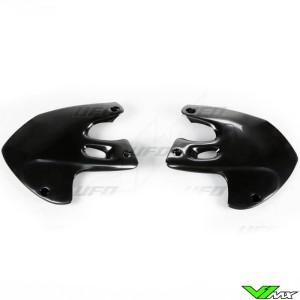 UFO Radiator Shrouds Black - Suzuki RM125 RM250