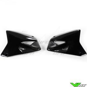 UFO Radiateurkappen Zwart - Suzuki RM125 RM250