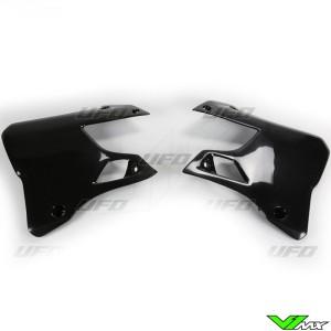 UFO Radiator Shrouds Black - Yamaha YZ125 YZ250