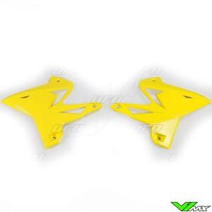 UFO Restyle Radiator Shrouds Yellow - Yamaha YZ125 YZ250