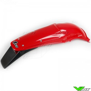 UFO Rear Fender with Tail Light Red - Honda CR125 CR250