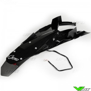 UFO Rear Fender with LED Tail Light Black - Husqvarna TC449 TE449 TE511