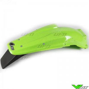 UFO Rear Fender with Tail Light Green - Kawasaki KX125 KX250