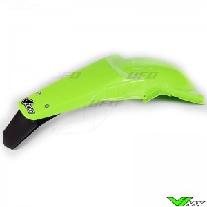 UFO Rear Fender with LED Tail Light Green - Kawasaki KX125 KX250