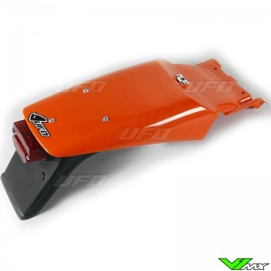 UFO Rear Fender with Tail Light Orange - KTM 620SX