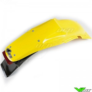 UFO Rear Fender with Tail Light Yellow - Suzuki RM125 RM250