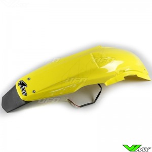UFO Rear Fender with LED Tail Light Yellow - Suzuki RMZ250