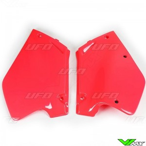 UFO Side Number Plates (CR 92-97 Red) - Honda CR125 CR250