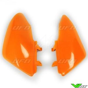 UFO Side Number Plates Orange - Honda CRF50F