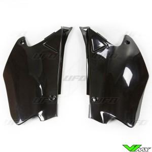 UFO Side Number Plates Black - Honda CR125 CR250