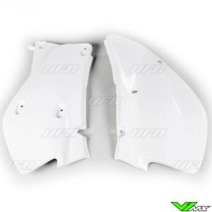 UFO Side Number Plates White - Honda XR650R