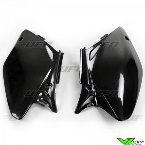 UFO Side Number Plates Black - Honda CRF450R