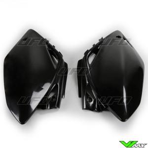 UFO Side Number Plates Black - Honda CRF450R