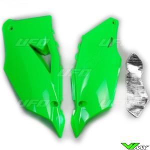 UFO Zijnummerplaten Fluo Groen - Kawasaki KXF450