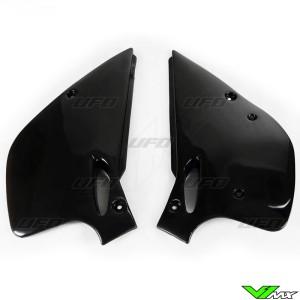 UFO Side Number Plates Black - KTM 250SX 360SX 250EXC 300EXC 360EXC