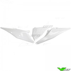 UFO Zijnummerplaten met Luchtfilterbak deksel Wit - KTM 125SX 150SX 250SX 250SX-F 350SX-F 450SX-F