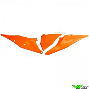 UFO Zijnummerplaten met Luchtfilterbak deksel Oranje - KTM 125SX 150SX 250SX 250SX-F 350SX-F 450SX-F