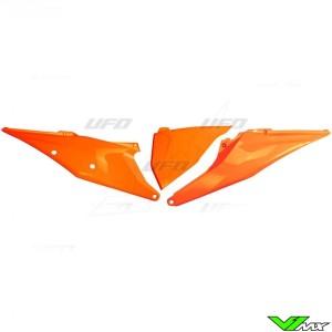UFO Zijnummerplaten met Luchtfilterbak deksel Fluo Oranje - KTM 125SX 150SX 250SX 250SX-F 350SX-F 450SX-F