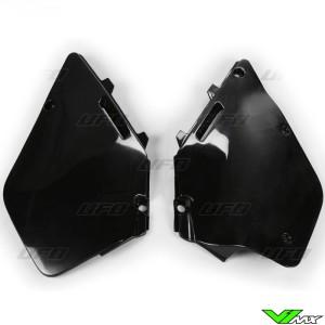 UFO Side Number Plates Black - Suzuki RM125 RM250