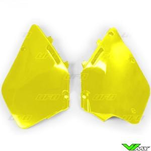 UFO Zijnummerplaten Geel - Suzuki RM125 RM250