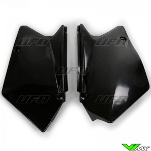 UFO Side Number Plates Black - Suzuki RMZ450