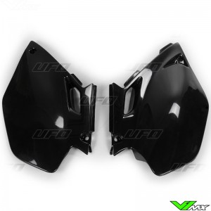 UFO Side Number Plates Black - Yamaha YZF250 YZF450