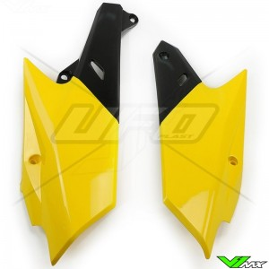 UFO Side Number Plates Yellow - Yamaha YZF250 YZF450 WR250F WR450F
