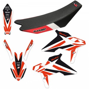 Blackbird Dream 4 Stickerset en zadelovertrek - Beta RR250-2T RR300-2T RR350-4T RR390-4T RR430-4T RR480-4T