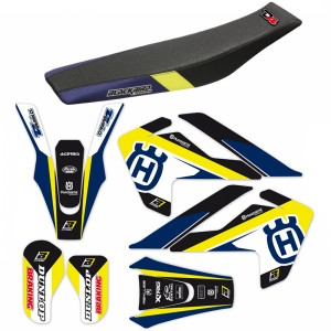 Blackbird Dream 4 Stickerset en zadelovertrek - Husqvarna TC85