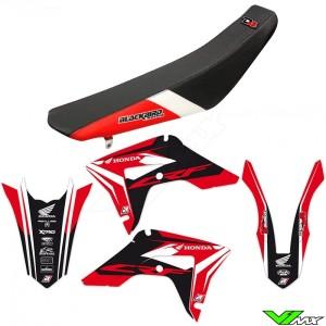 Blackbird Dream 4 Stickerset en zadelovertrek - Honda CRF250R CRF450R CRF450RX