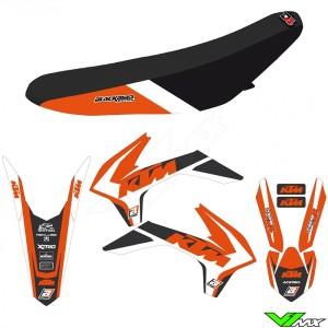 Blackbird Dream 4 Stickerset en zadelovertrek - KTM