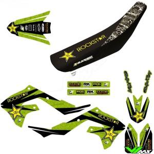 Blackbird Rockstar Stickerset en zadelovertrek - Kawasaki KXF450