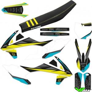Blackbird Stealth Yellow Stickerset en zadelovertrek - KTM
