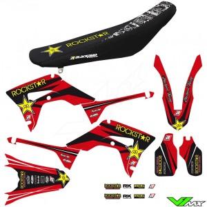Blackbird Rockstar Stickerset en zadelovertrek - Honda CRF250R CRF450R CRF450RX