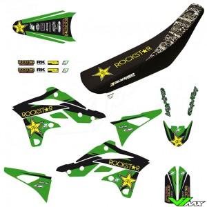 Blackbird Rockstar Stickerset en zadelovertrek - Kawasaki KXF250